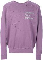 Satisfy distressed printed sweatshirt - men - Cotton - S