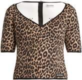 Balenciaga Leopard-print neoprene top