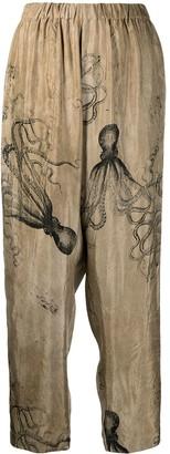 UMA WANG Octopus-Print Trousers