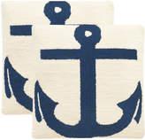 Safavieh Set Of 2 Ahoy Indoor/Outdoor Pillows