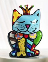 "Limited Edition Romero Britto Cat Figurine ""Royalty Cat"""