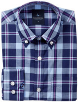 Tailorbyrd Woven Navy Plaid Dress Shirt (Big Boys)