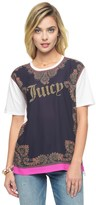 Juicy Couture Studded Paisley Border Graphic Tee