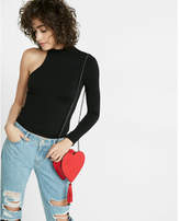 Express One Eleven One Shoulder Mock Neck Tee