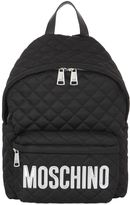 Moschino Large Logo Quilted Nylon Backpack