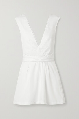Kalita Lemuria Layered Cotton-poplin Playsuit - White