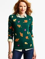 Talbots Falling Leaves Intarsia Sweater