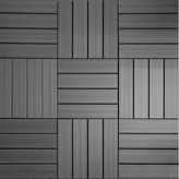 "Westminster NewTechWood UltraShield Wood 12"" x 12"" Outdoor Composite Quick Deck Tile in Gray"