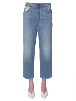 Stella McCartney Cropped Straight Leg Jeans