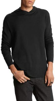 John Varvatos Collection Silk/Cashmere Hooded Sweater