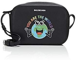 Balenciaga Women's Everyday Extra-Small Leather Camera Bag - Black