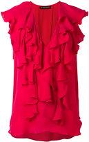 Plein Sud Jeans ruffled V-neck blouse - women - Silk - 40