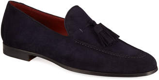 Magnanni Men's Suede Tassel Loafers