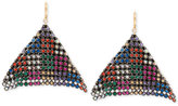 Betsey Johnson Two-Tone Multi-Crystal Mesh Drop Earrings