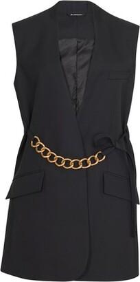 Givenchy Metallic chain sleeveless jacket