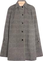 Vanessa Seward Conan reversible wool-blend and cotton-gabardine cape