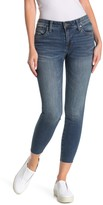 KUT from the Kloth Carlo Raw Edge High Waist Ankle Skinny Jeans