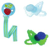 Razbaby Teethers & Holder - (3 Pack) - Multi-Colored/Aqua