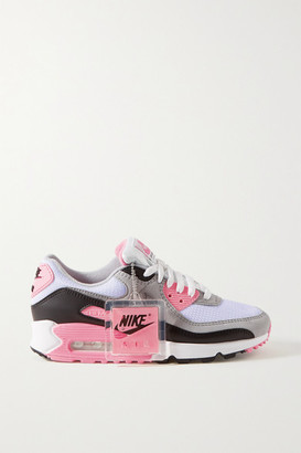 Nike Air Max 90 Suede, Mesh And Leather Sneakers - Gray