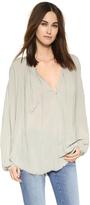 Raquel Allegra Shirred Blouse