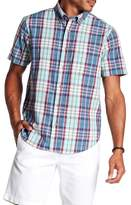 Tailor Vintage Madras Short Sleeve Plaid Shirt