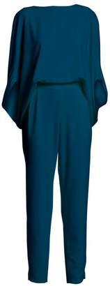 Halston Draped Sleeve Blouson Jumpsuit
