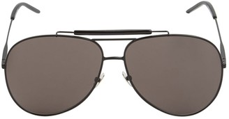 Saint Laurent Classic 11 Oversize Aviator Sunglasses