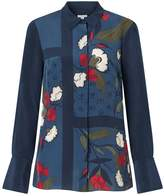 Jigsaw Nordic Floral Silk Blouse