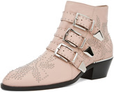 Chloe Susanna Leather Studded Bootie in Nude Pink