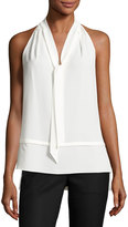 Laundry by Shelli Segal Layered Self-Tie Top, White