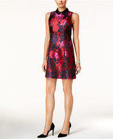 Ivanka Trump Collared Floral-Print A-Line Dress