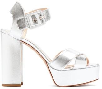 Nicholas Kirkwood Essential Metallic Leather Platform Sandals - Silver
