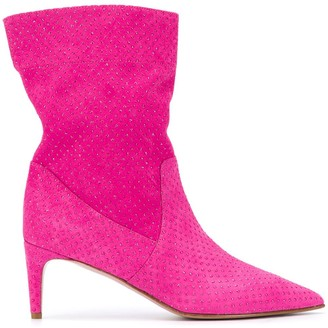 Red(V) Softies rhinestone-embellished boots