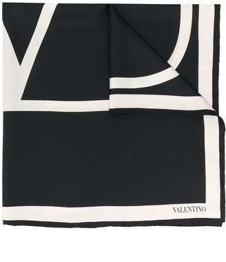 Valentino silk VLOGO square scarf