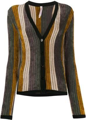 Antonio Marras striped V-neck cardigan