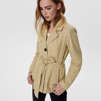 Only Short Belted Trench Coat