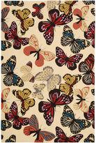 Nourison Butterflies Hand-Hooked Rectangular Rugs