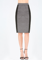 Bebe Chanice Faux Suede Skirt