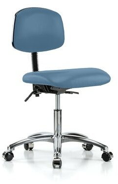 Perch Chairs & Stools Perch Vinyl Task Chair Upholstery Color: Charcoal Vinyl