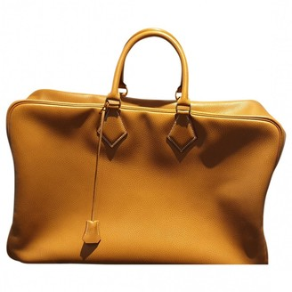 Hermes Plume Camel Leather Travel bags
