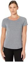 Exofficio BugsAway(r) Caddis Short Sleeve Shirt (Carbon Heather) Women's T Shirt