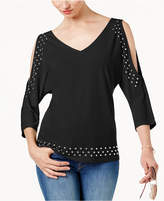 INC International Concepts Studded Cold-Shoulder Top, Created for Macy's