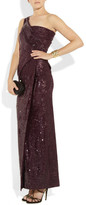 Donna Karan Icons sequined stretch-satin jersey gown