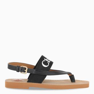 Chloé Woody black sandals