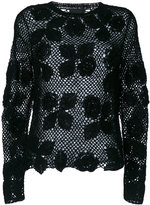 Ermanno Scervino roses pattern knitted blouse - women - Polyamide/Mohair/Wool - 40