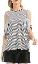 Vince Camuto Stripe Cold-Shoulder Tee