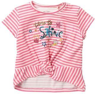 Jessica Simpson Striped Sequin Short Sleeve Tee (Little Girls)