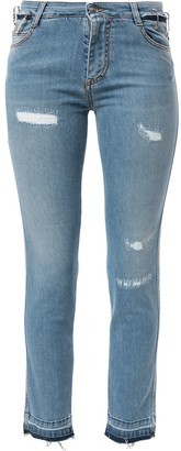 Ermanno Scervino Low Rise Distressed Skinny Jeans
