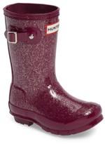 Hunter Toddler Girl's 'Original Glitter' Rain Boot