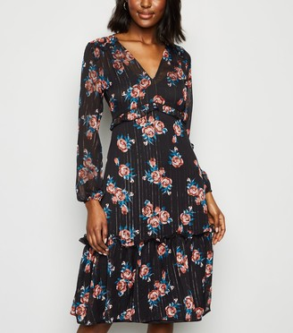 New Look Innocence Floral and Stripe Dress